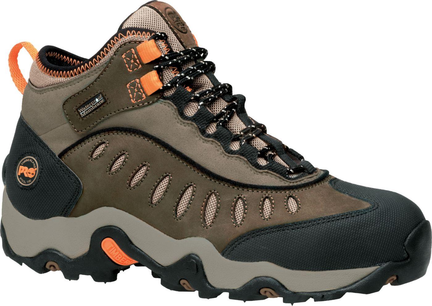 Timberland PRO Men's Mudslinger Mid Waterproof Steel Toe Work Boots