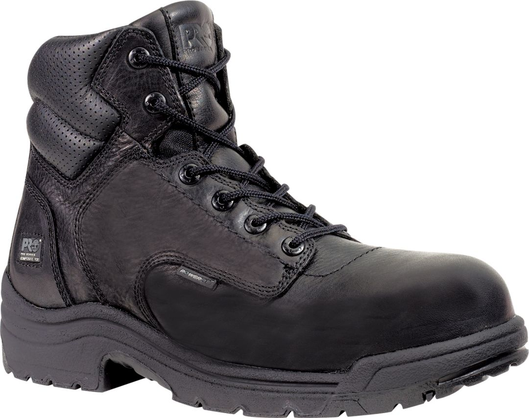 Black Timberland Work Boots