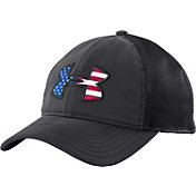 Under Armour Men's Big Flag Logo Mesh Back Hat