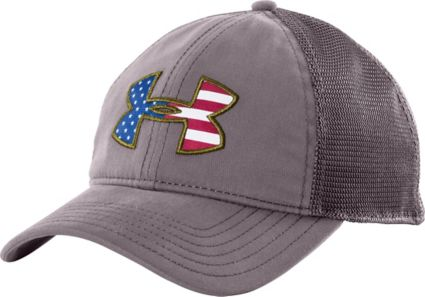 80968fe1893 Under Armour Men s Big Flag Logo Mesh Back Hat. noImageFound