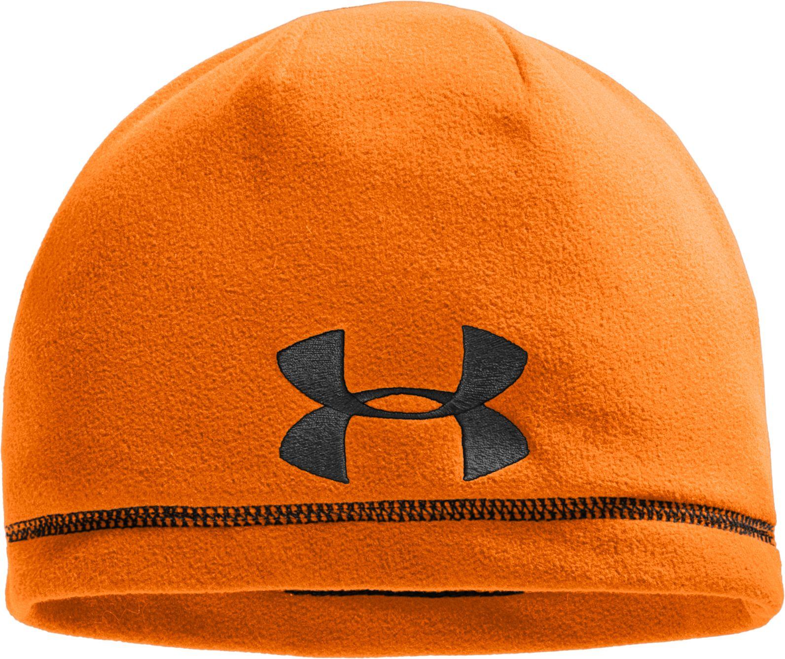 Under Armour Men's Outdoor Fleece Beanie, Size: One size, Blaze Orange thumbnail
