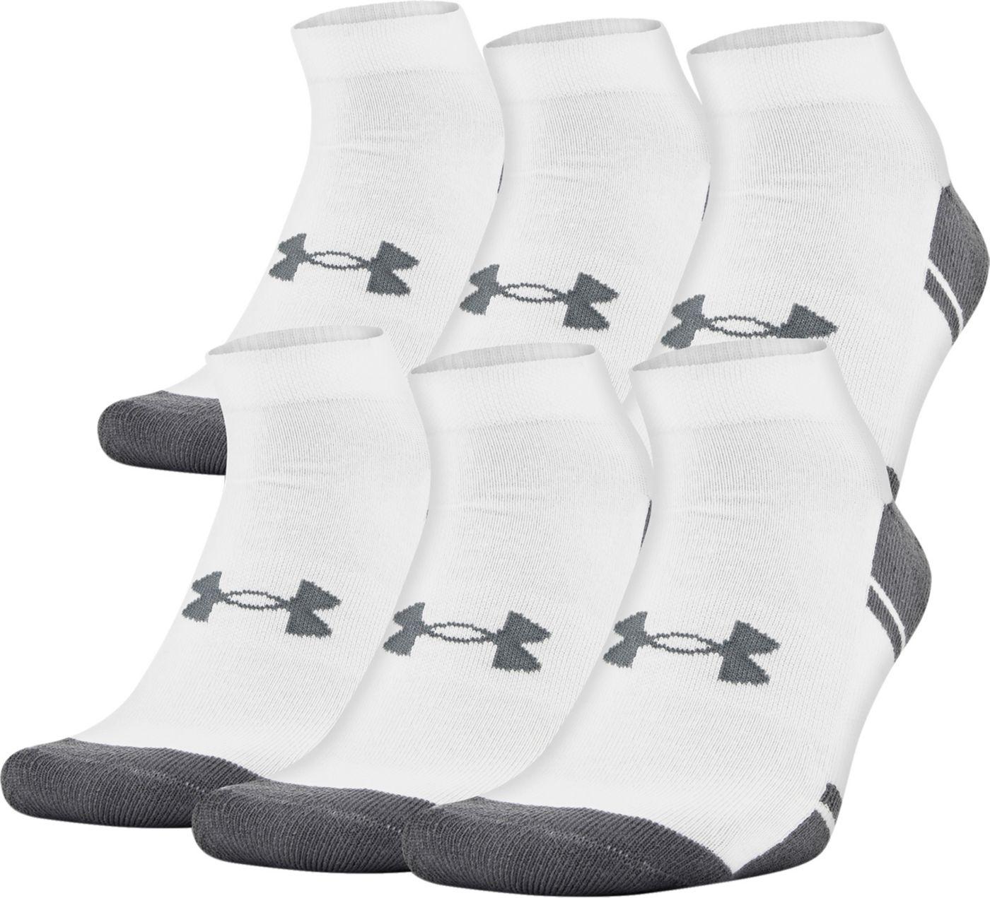 Under Armour Resistor Low Cut Athletic Socks - 6 Pack
