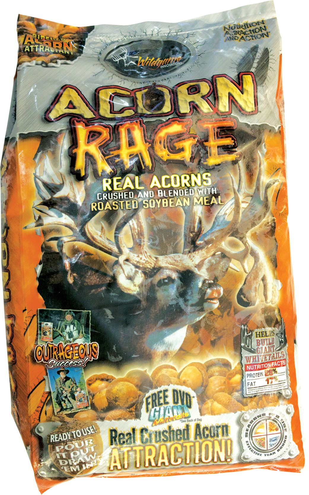 Wildgame Innovations Acorn Rage Attractant – 16 lbs
