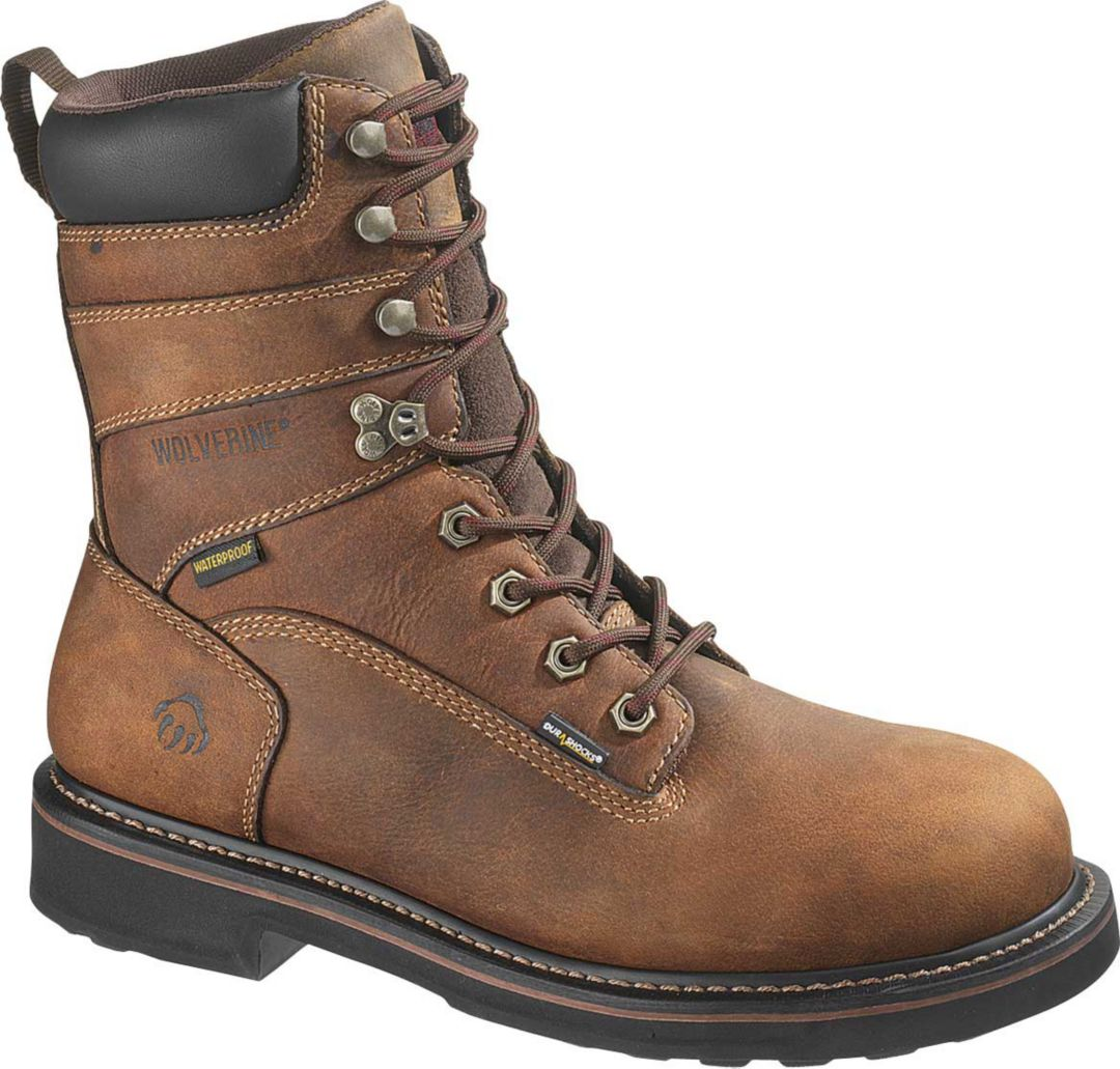 "fe3709fdb7f Wolverine Men's Brek 8"" Waterproof DuraShocks Steel Toe Work Boots"