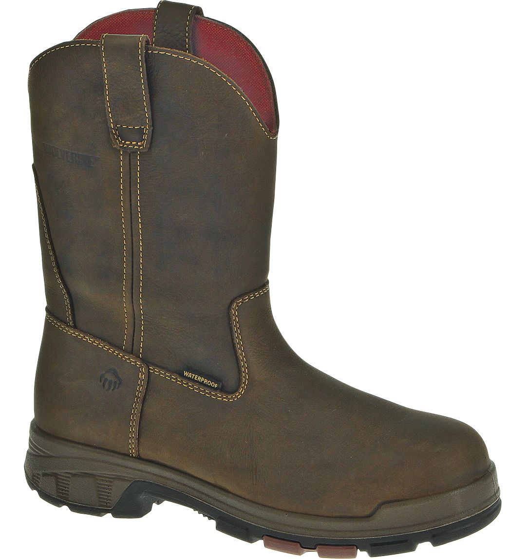 f68c69721ed Wolverine Men's Cabor Wellington Waterproof Composite Toe Work Boots
