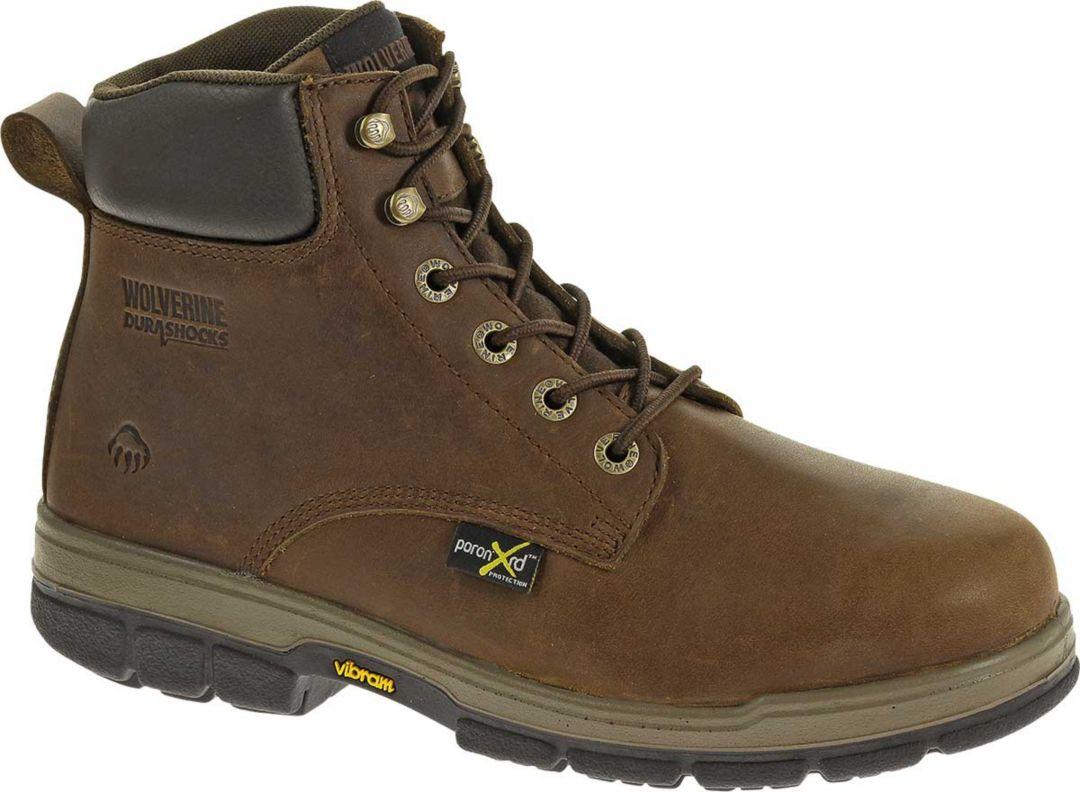 21958d5d288 Wolverine Men's Gallatin 6'' DuraShocks Steel Toe Work Boots
