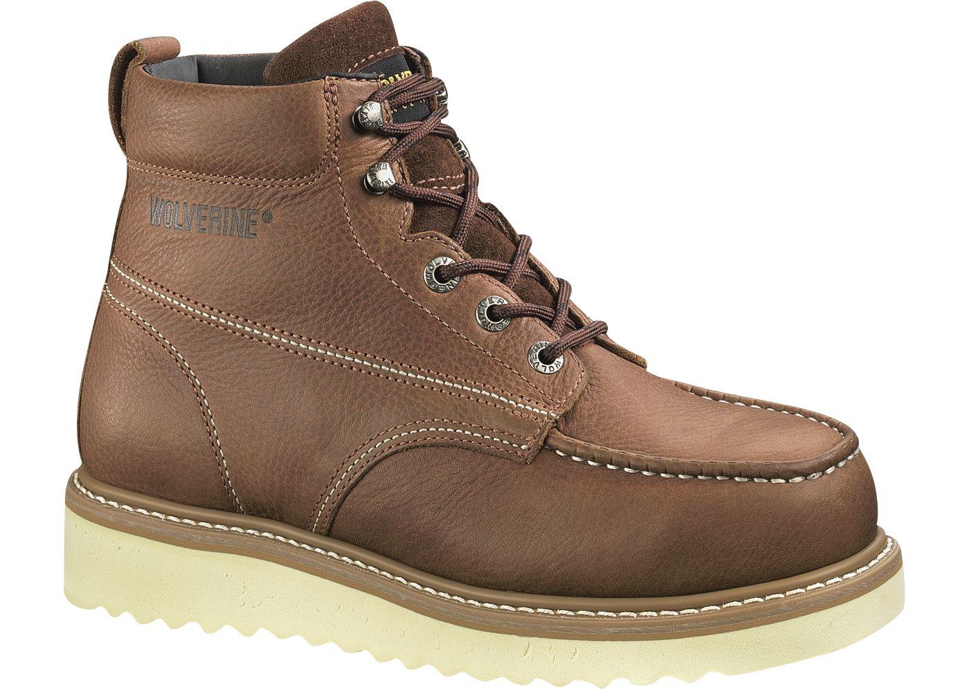 "Wolverine Men's Moc Toe Wedge 6"" Work Boots"