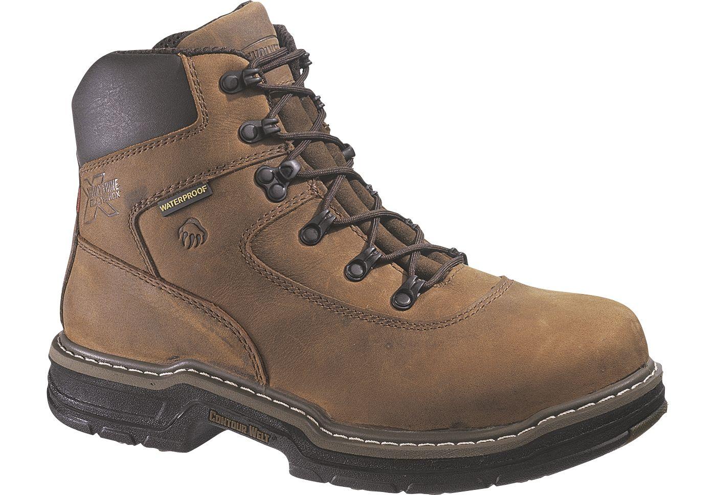 "Wolverine Men's Marauder 6"" Waterproof 400g Steel Toe Work Boots"