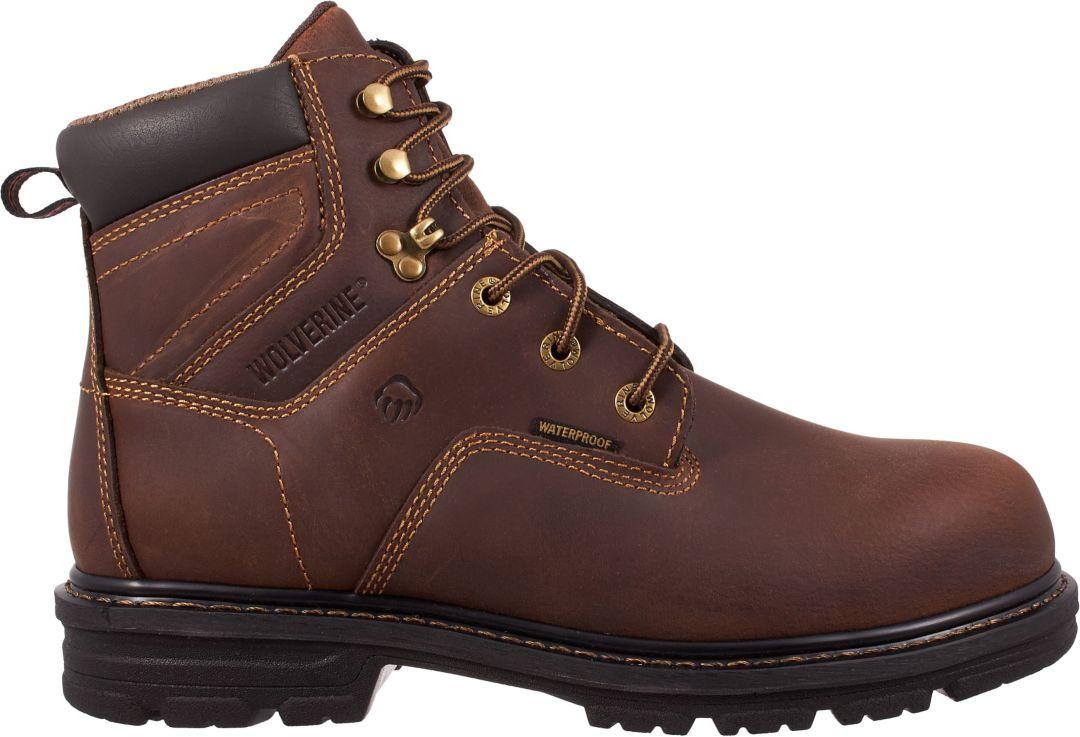 883406bdd01 Wolverine Men's Nolan 6'' Waterproof Composite Toe Work Boots ...