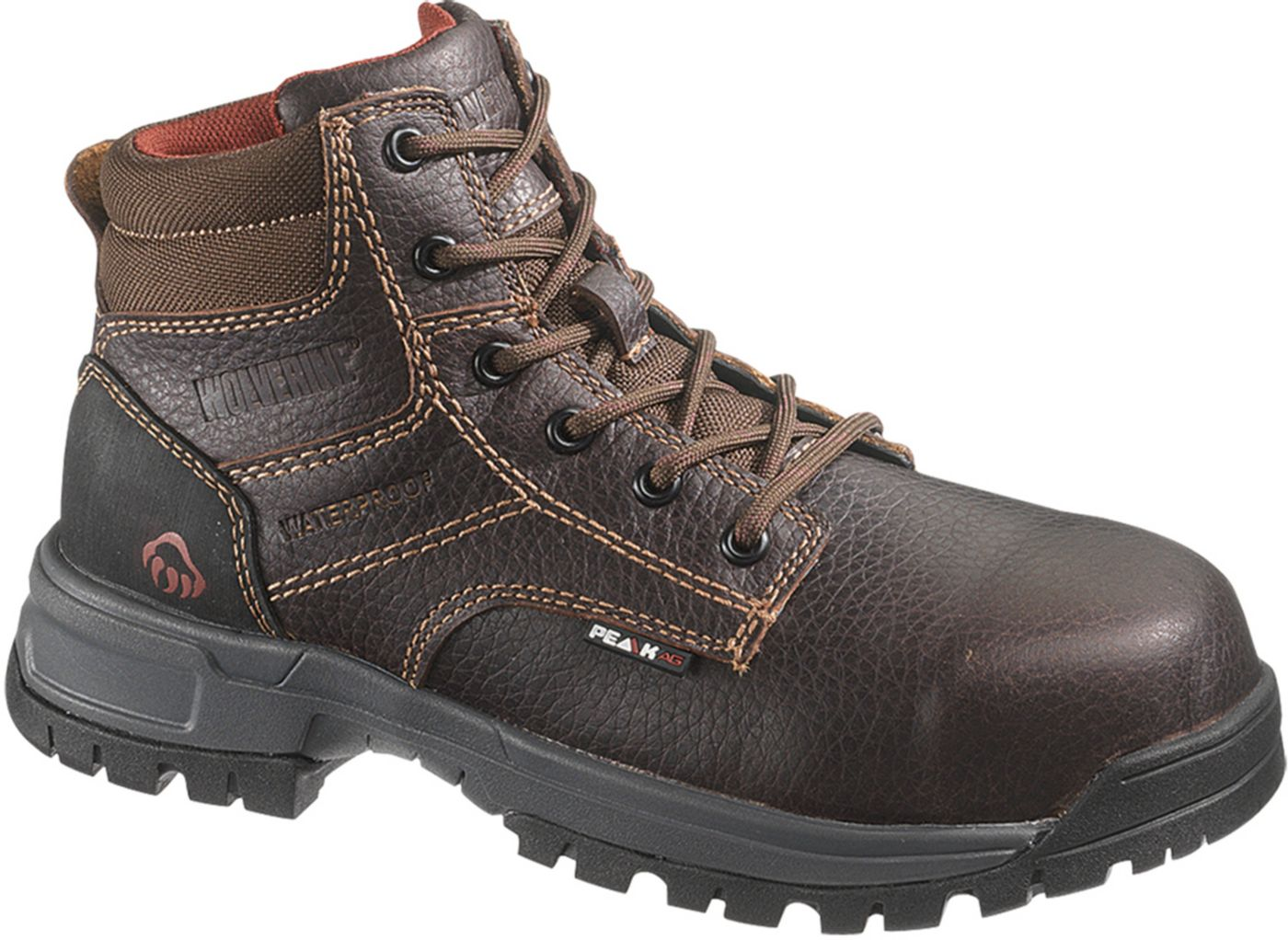 "Wolverine Women's Piper 6"" Waterproof Composite Toe Work Boots"
