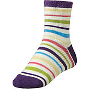 Yaktrax Women's Cozy Multi-Stripe Cabin Socks