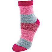Yaktrax Women's Cozy Cabin Stripe Crew  Socks