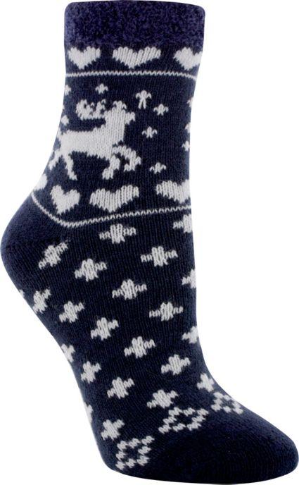 Yaktrax Women's Cozy Deer Crew Cabin Socks
