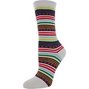 Yaktrax Kids' Everyday Dash Stripe Crew Socks