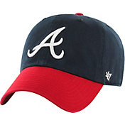 '47 Men's Atlanta Braves Navy Clean Up Adjustable Hat