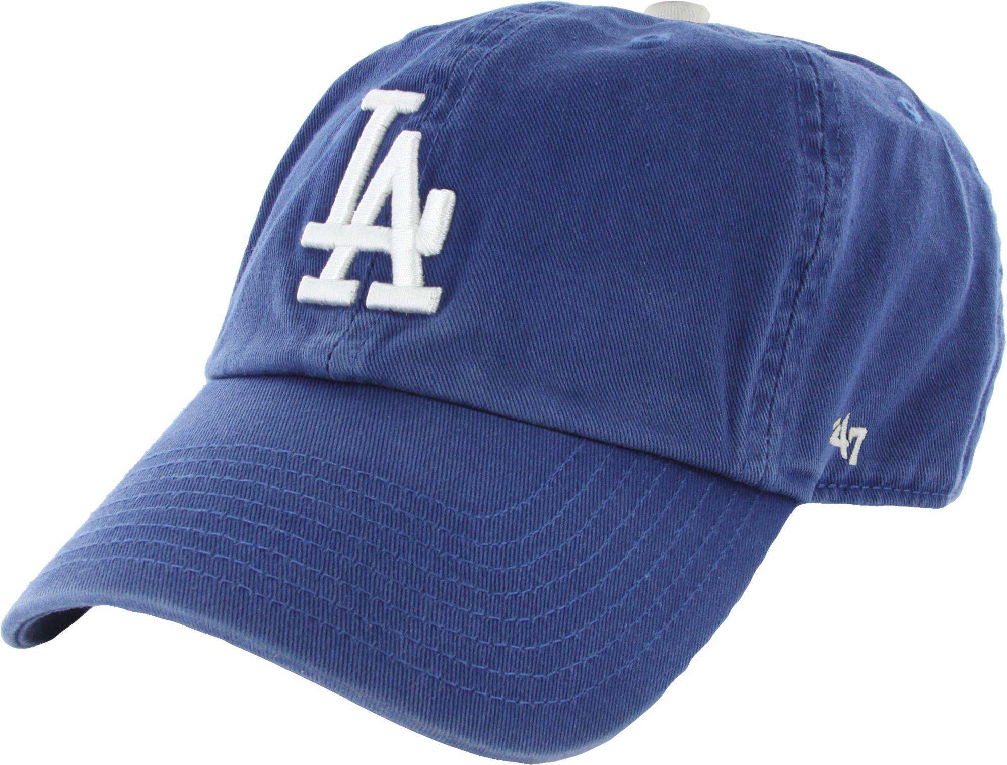 buy online b91ee a49fb ... get 47 mens los angeles dodgers royal clean up adjustable hat 897ab  f26e8