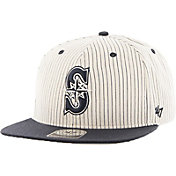 '47 Men's Seattle Mariners Woodside Captain Pinstripe Adjustable Hat
