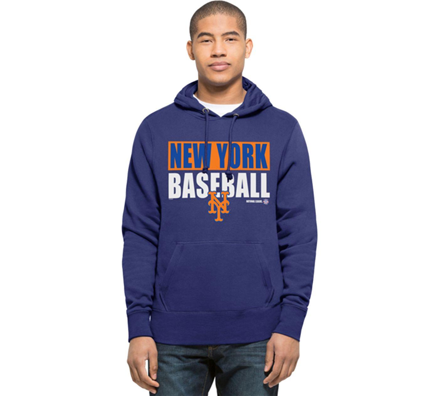 '47 Men's New York Mets Royal Headline Pullover Hoodie