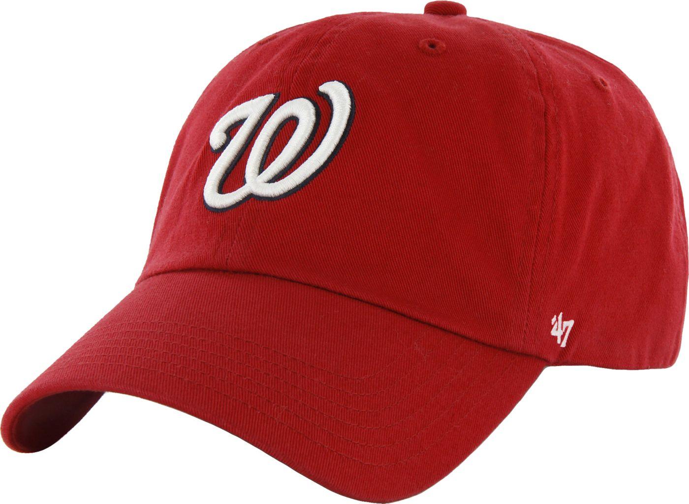 '47 Men's Washington Nationals Red Clean Up Adjustable Hat