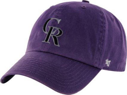 '47 Men's Colorado Rockies Clean Up Purple Adjustable Hat