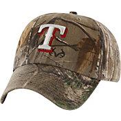 '47 Men's Texas Rangers Realtree Camo Frost MVP Adjustable Hat