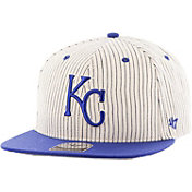 '47 Men's Kansas City Royals Woodside Captain Pinstripe Adjustable Hat