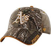 '47 Men's Oakland Athletics Realtree Camo Frost MVP Adjustable Hat