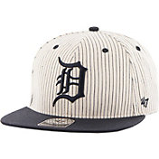 '47 Men's Detroit Tigers Woodside Captain Pinstripe Adjustable Hat