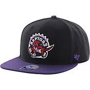 '47 Men's Toronto Raptors Sure Shot Black 2-Tone Adjustable Snapback Hat
