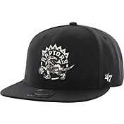 '47 Men's Toronto Raptors Sure Shot Black Adjustable Snapback Hat