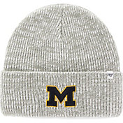 '47 Men's Michigan Wolverines Heathered Grey Brain Freeze Cuffed Knit