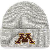 '47 Men's Minnesota Golden Gophers Heathered Grey Brain Freeze Cuffed Knit
