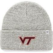 '47 Men's Virginia Tech Hokies Heathered Grey Brain Freeze Cuffed Knit