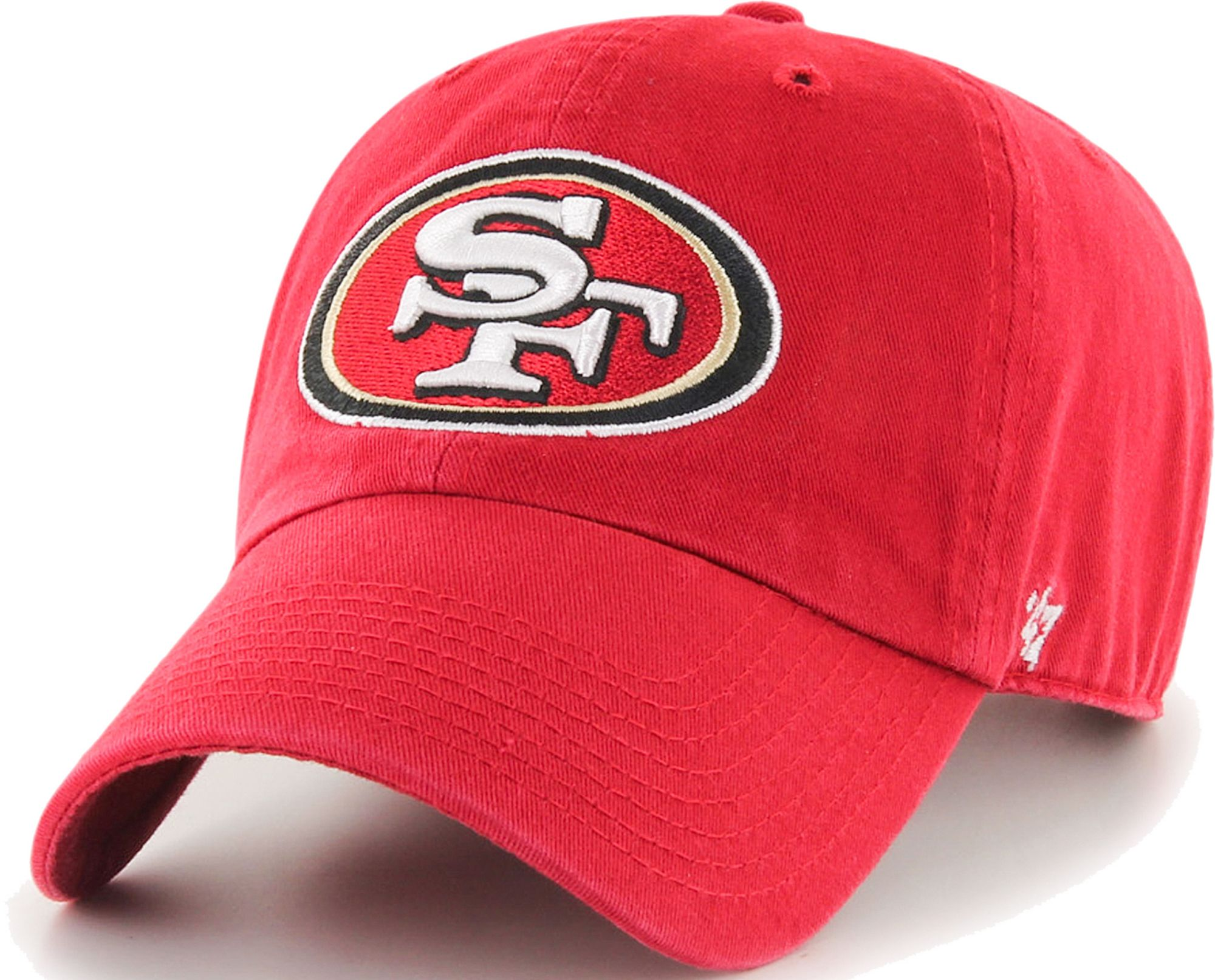 newest dea60 4e1c4 ireland 47 mens san francisco 49ers red clean up adjustable hat 8fb95 42e1c