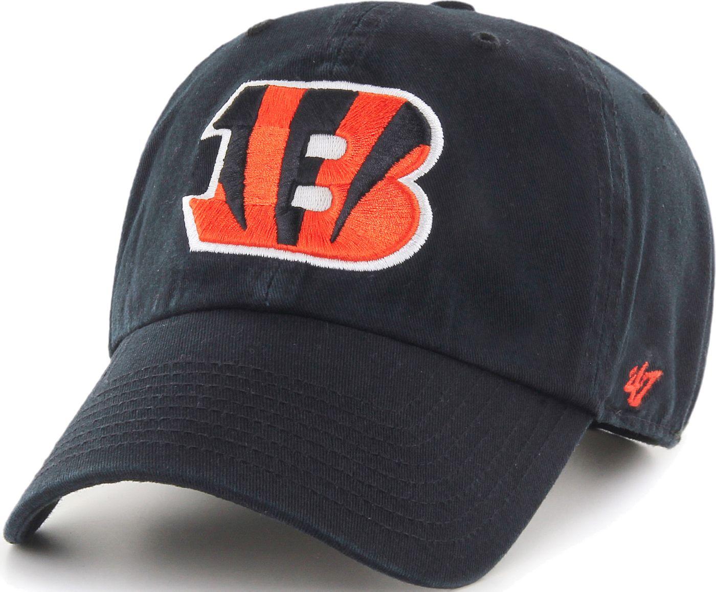 '47 Men's Cincinnati Bengals Black Clean Up Adjustable Hat