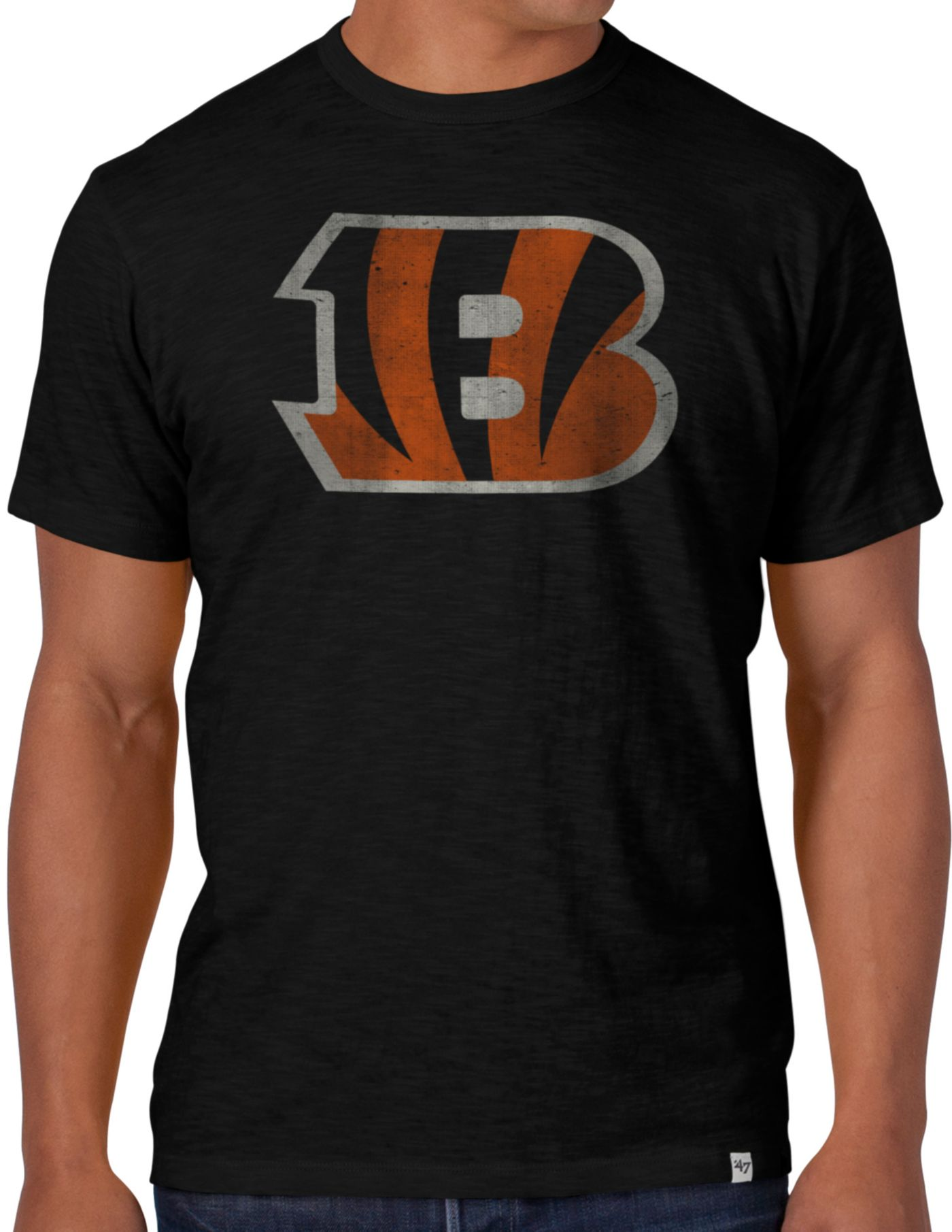 '47 Men's Cincinnati Bengals Scrum Logo T-Shirt