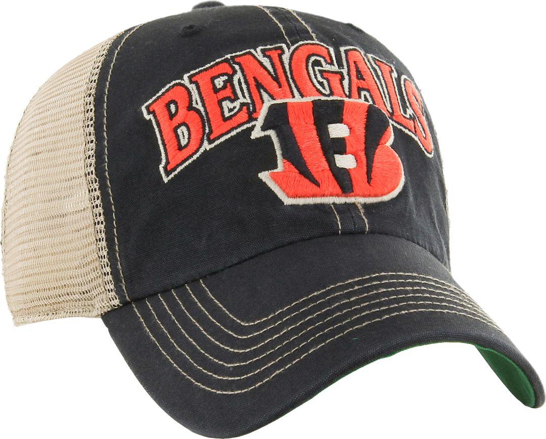 08c2ef99d5a2a '47 Men's Cincinnati Bengals Vintage Tuscaloosa Black Adjustable Hat 1. '