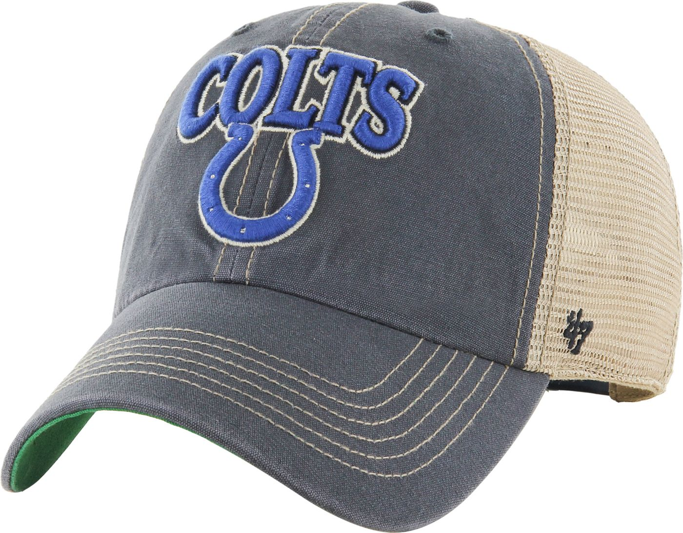 '47 Men's Indianapolis Colts Vintage Tuscaloosa Navy Adjustable Hat