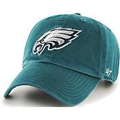 '47 Men's Philadelphia Eagles Green Clean Up Adjustable Hat