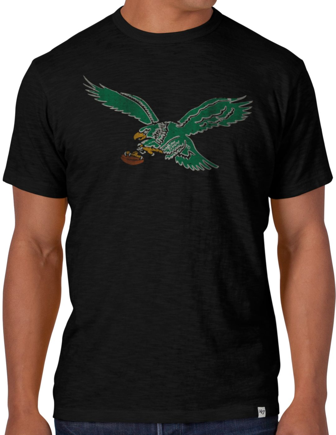 premium selection 7c5a9 e0980 '47 Men's Philadelphia Eagles Throwback Scrum Logo T-Shirt