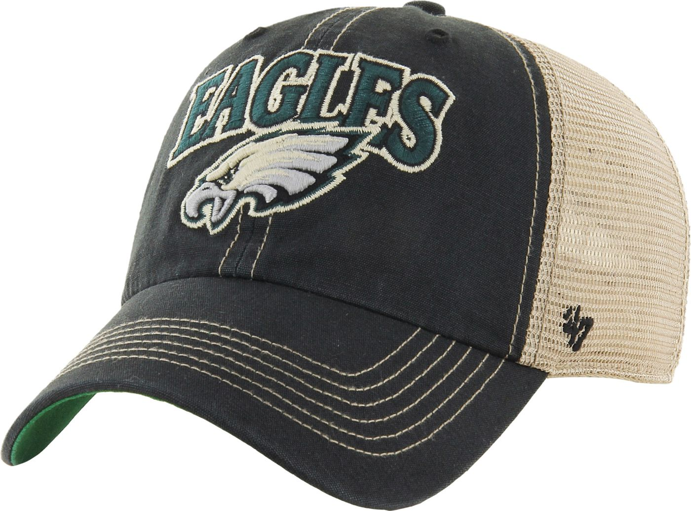 '47 Men's Philadelphia Eagles Vintage Tuscaloosa Black Adjustable Hat