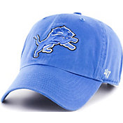 '47 Men's Detroit Lions Blue Clean Up Adjustable Hat