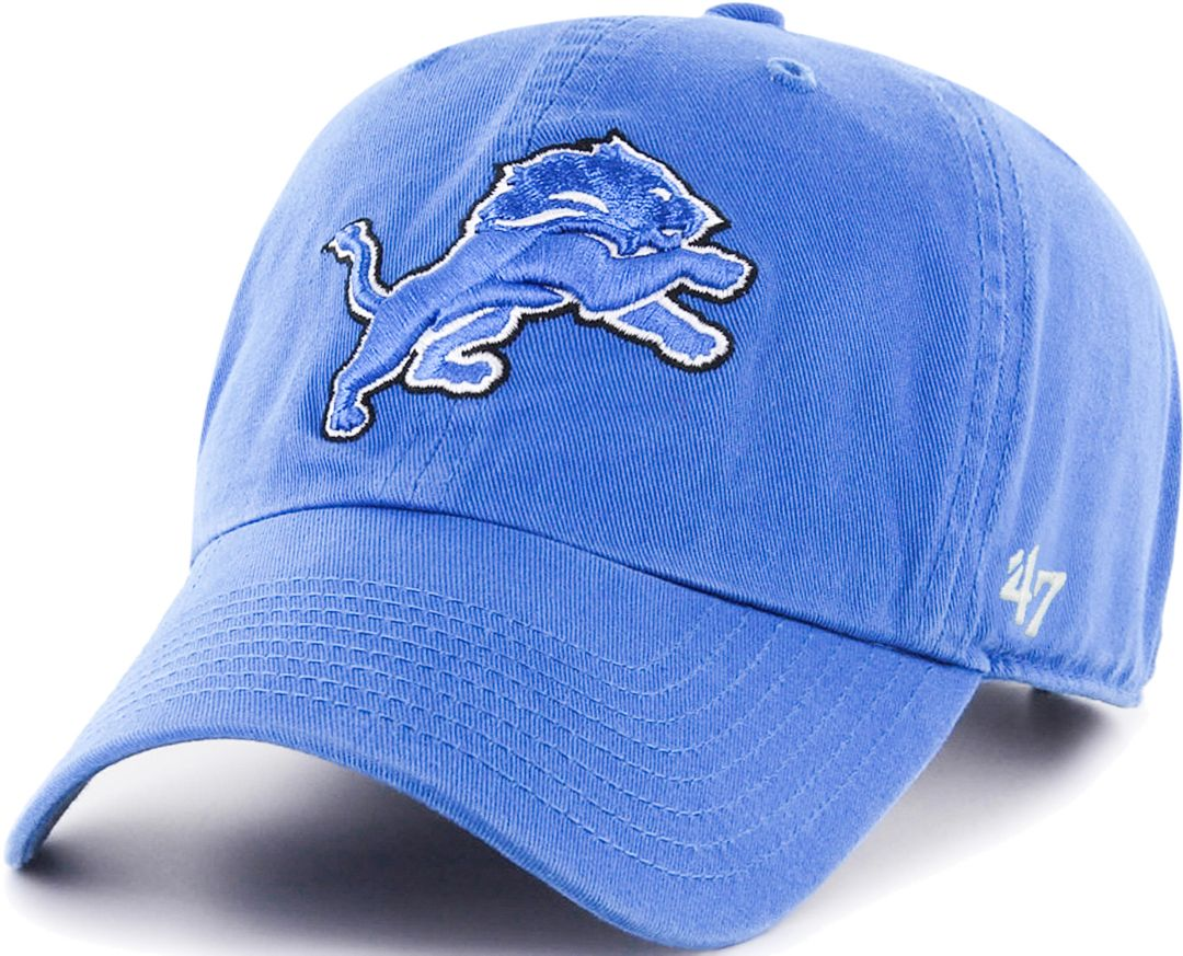 info for 35550 b0e15  47 Men s Detroit Lions Blue Clean Up Adjustable Hat 1