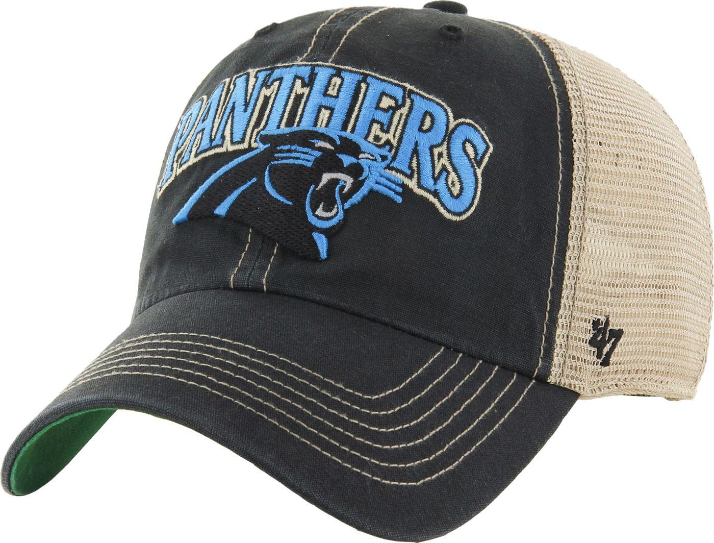'47 Men's Carolina Panthers Vintage Tuscaloosa Black Adjustable Hat