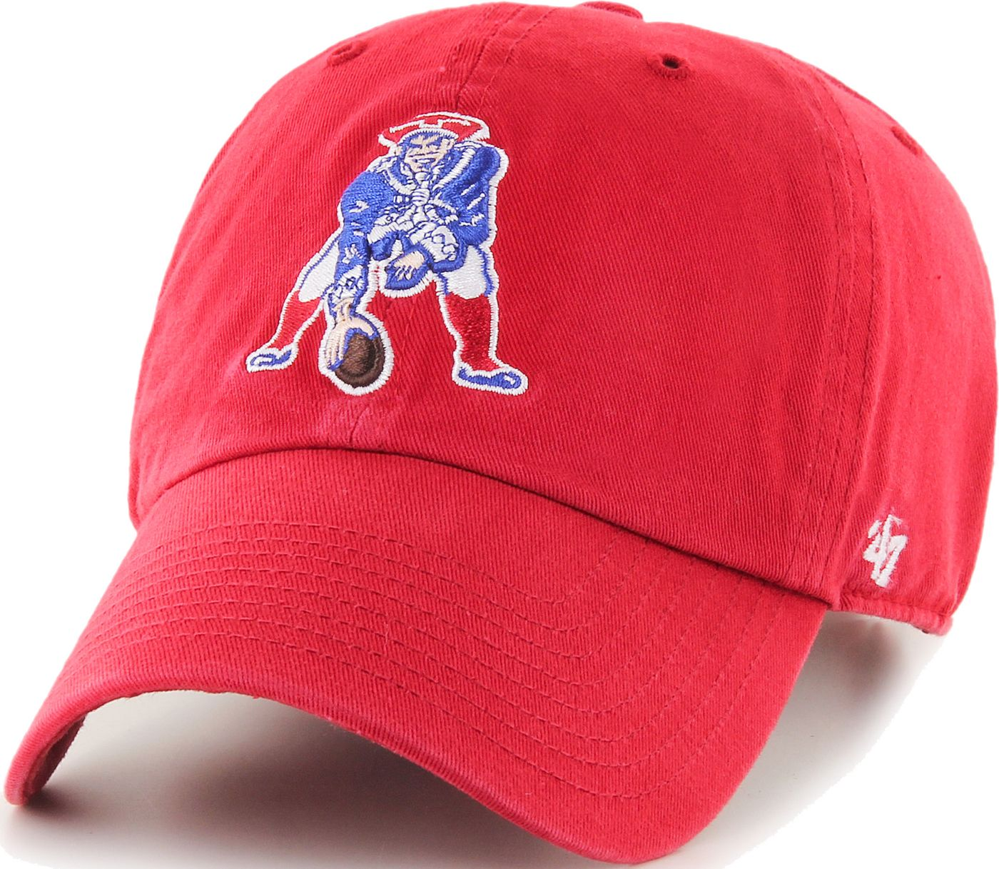 '47 Men's New England Patriots Legacy Clean Up Red Adjustable Hat