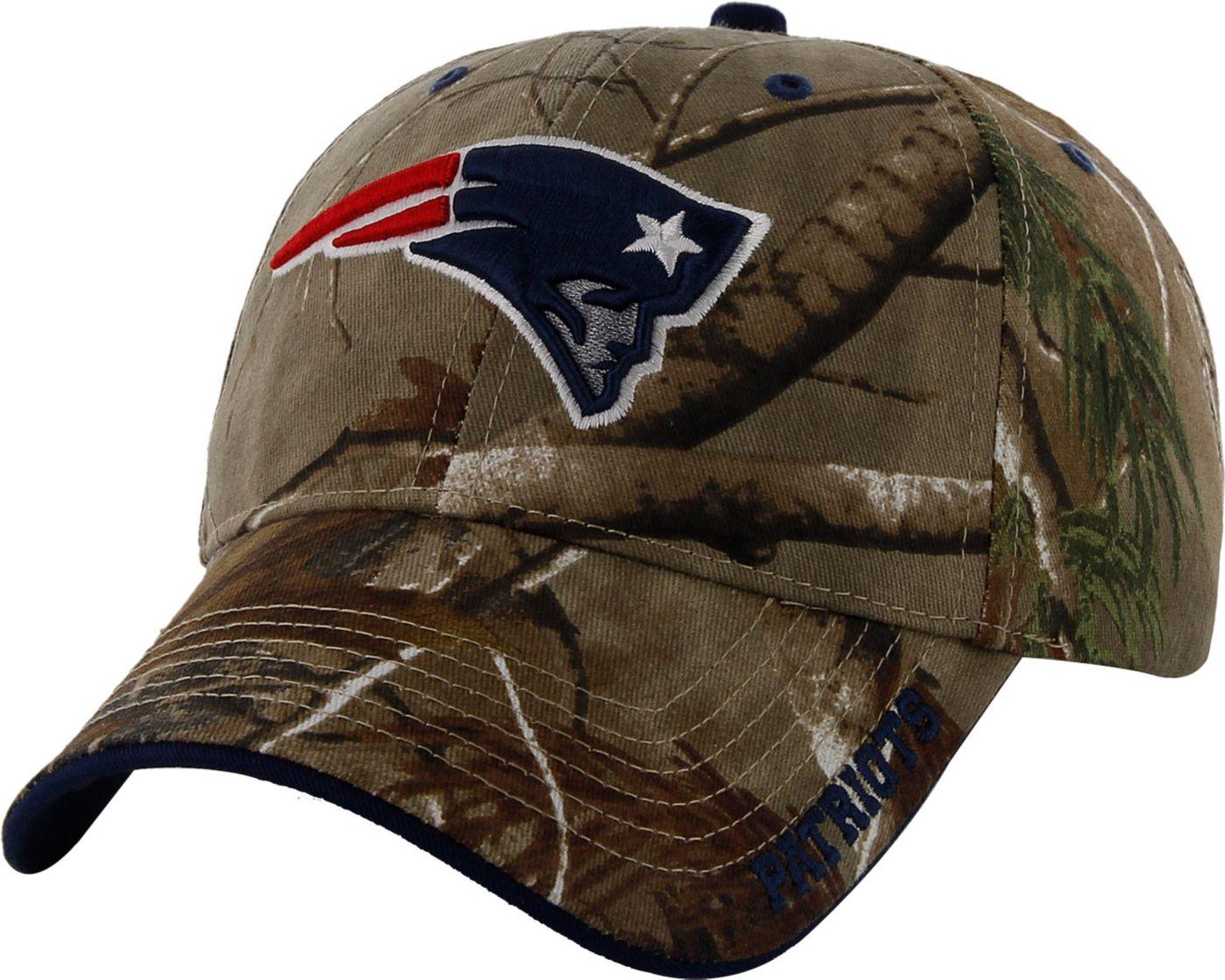 '47 Men's New England Patriots Frost Realtree Adjustable Camo Hat