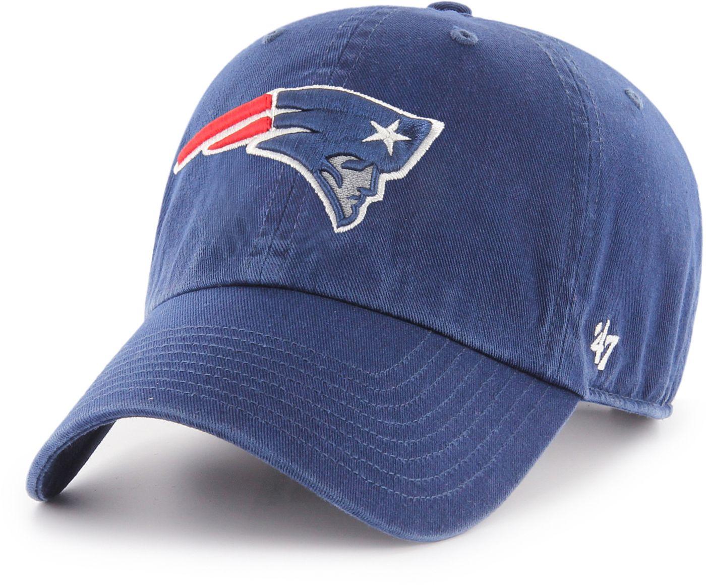 '47 Men's New England Patriots Navy Clean Up Adjustable Hat