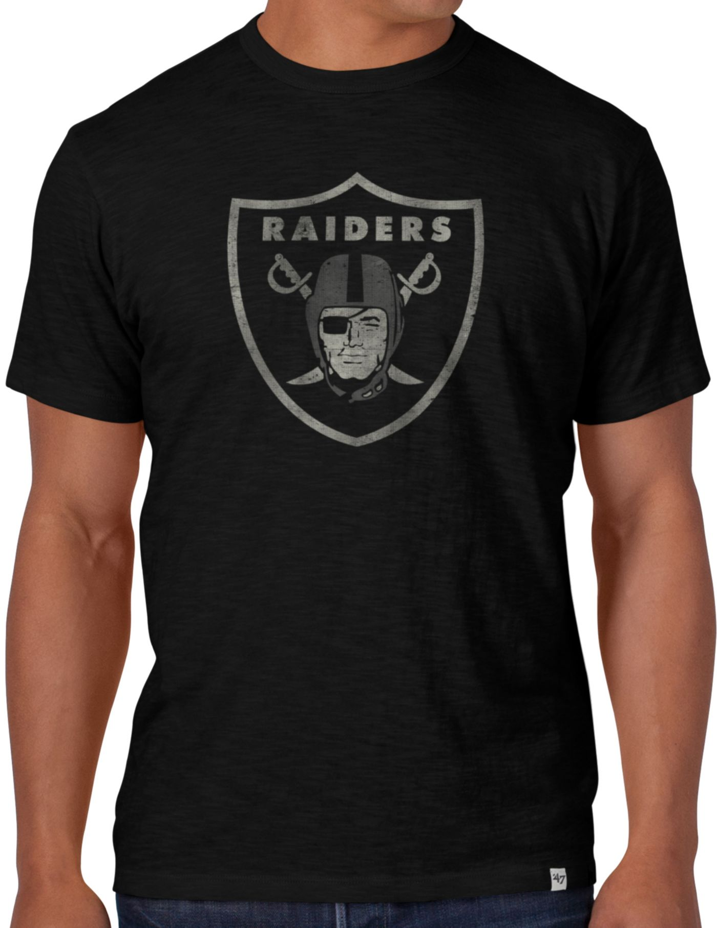 '47 Men's Oakland Raiders Scrum Logo T-Shirt