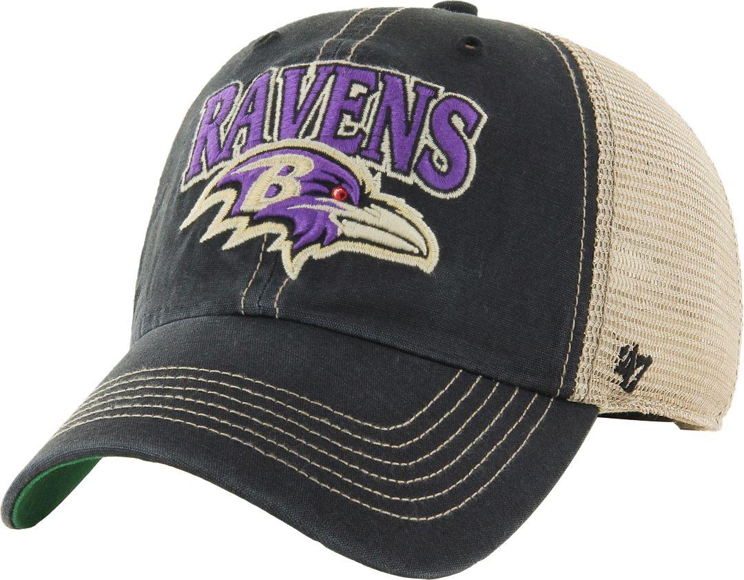 08cdc2e7 '47 Men's Baltimore Ravens Vintage Tuscaloosa Black Adjustable Hat