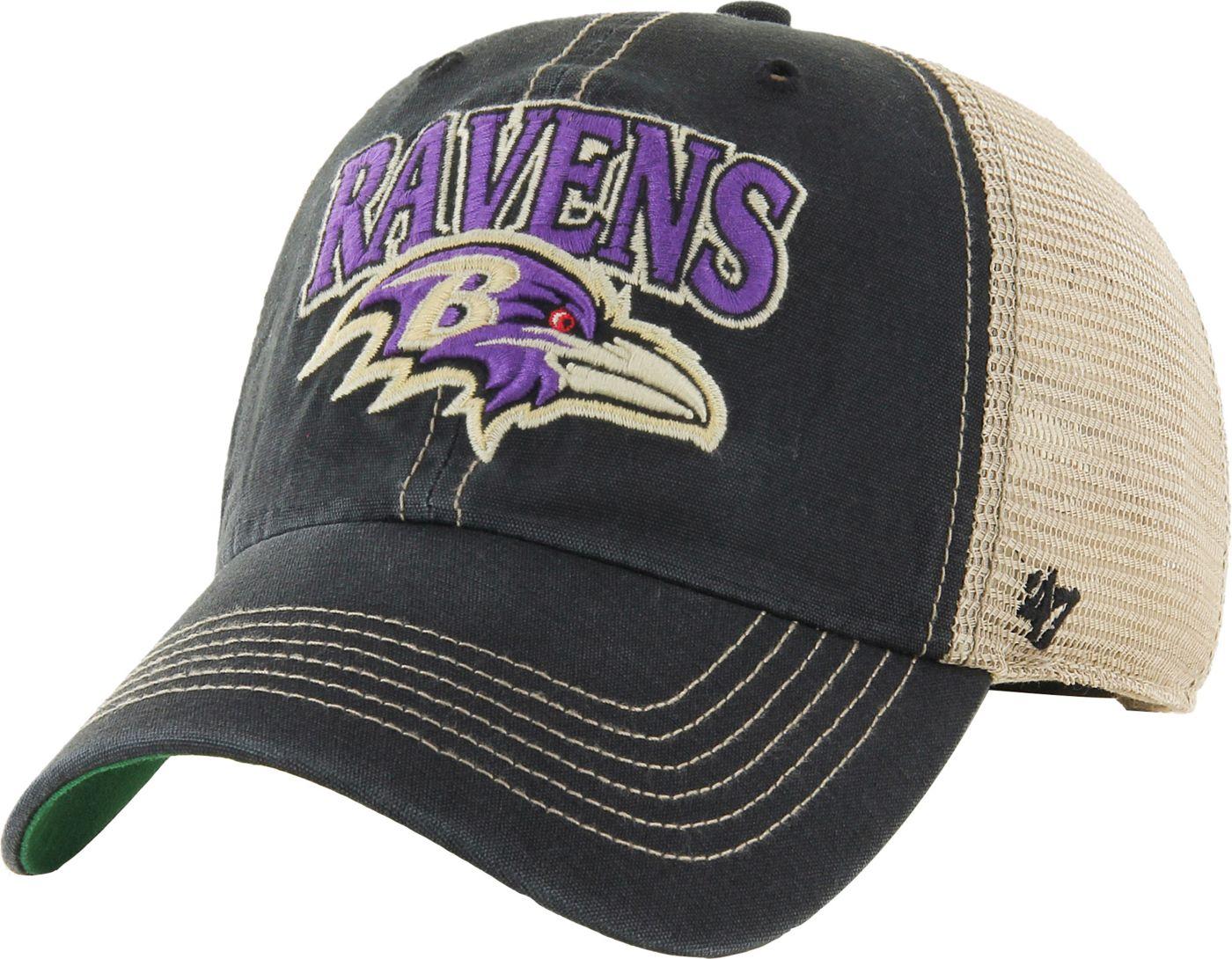 '47 Men's Baltimore Ravens Vintage Tuscaloosa Black Adjustable Hat
